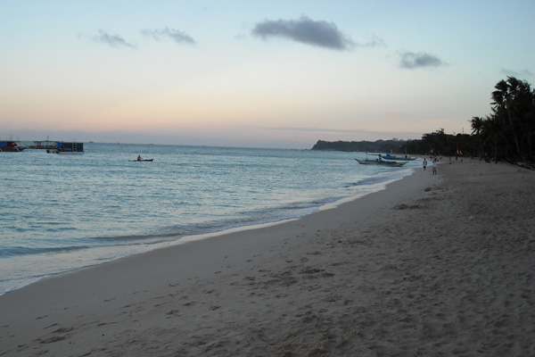 Boracay Beach in the morning