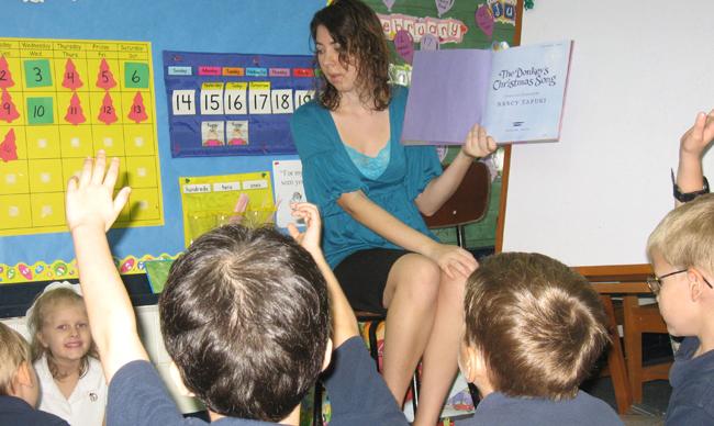 Betsy teaching her class